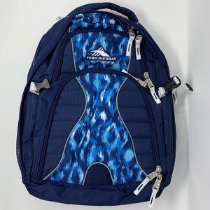 High Sierra Blue Patterned Backpack